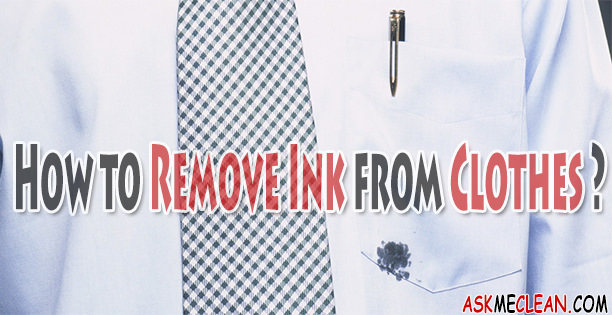 How To Remove Ink From Clothing