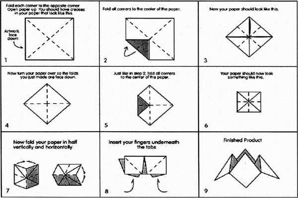 How To Make A Cootie Catcher Fold A Cootie Catcher